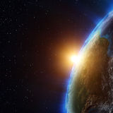 Planet atmosphere Royalty Free Stock Photo