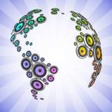 Planet av den sound illustrationen 3d 免版税库存图片