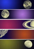Planet banners Royalty Free Stock Images