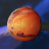 Planet beschädigt Stockfoto