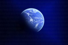 Planet on blue background Royalty Free Stock Image