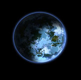 Planet. Blue planet with the mainlands of dry spells and water vector illustration