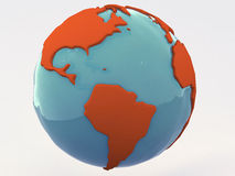Planet Brazil. 3D render of Brazil viewed from planet earth Stock Photo