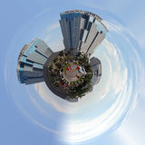 Planet of Building on main street in central Jakarta stock photo