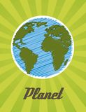 Planet cartoon Royalty Free Stock Images