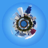 Planet of Chicago. Polarization picture of the Chicago (view from the lake Royalty Free Stock Photography