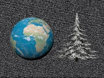 Planet in christmas party - 3d render Royalty Free Stock Photos