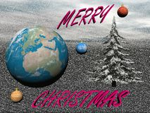 Planet in christmas party - 3d render Royalty Free Stock Images