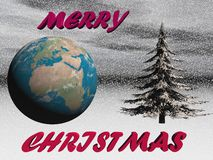 Planet in christmas party - 3d render Stock Photos