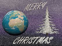 Planet in christmas party - 3d render Royalty Free Stock Photo