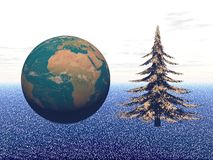 Planet in christmas party - 3d render Royalty Free Stock Photography