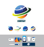 Planet circle sphere logo icon Royalty Free Stock Photography