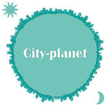 Planet  city Royalty Free Stock Photo