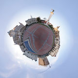 Planet with a cityscape circumference Royalty Free Stock Images