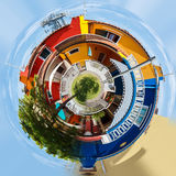 Planet of Colorful buildings in italian street Stock Photography