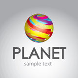 Planet of colors Royalty Free Stock Photo