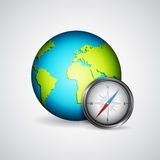 Planet with compass Stock Image