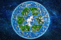 Recycle planet Royalty Free Stock Image