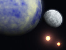 Planet and cosmos Stock Illustration