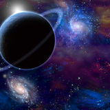 Planet and cosmos. High Resolution 3D Illustration Planet and cosmos Stock Image