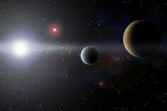Planet and cosmos Stock Photos