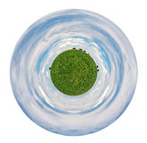 Planet with country corn field Stock Photography