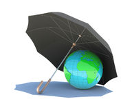 The planet is covered with a black umbrella Royalty Free Stock Photo