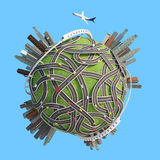 Planet 3D City Roads. Version 04 Royalty Free Stock Photos