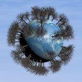 Planet 3d und Bäume Lizenzfreie Stockbilder