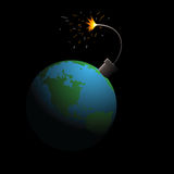 Planet in danger Royalty Free Stock Photography