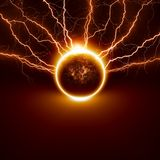 Planet in danger Stock Photography