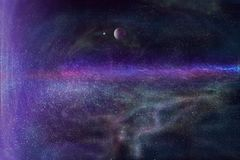 Planet in deep space Stock Images