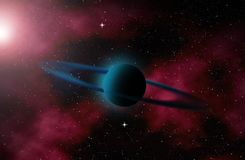 Planet in deep space. Royalty Free Stock Photo