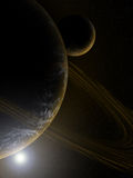 Planet in deep space wallpaper