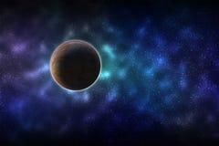 Planet in der Galaxie Lizenzfreie Stockfotografie