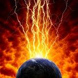 Planet in der Gefahr Stockbild