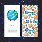 Planet design template Royalty Free Stock Images