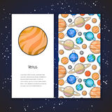 Planet design template Royalty Free Stock Image
