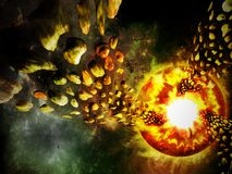 Planet disaster Royalty Free Stock Photography