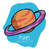 Planet drawn Stock Photography