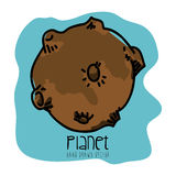 Planet drawn. Design, vector illustration eps10 graphic Stock Photo