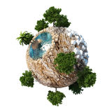 Planet Dune 3D Royalty Free Stock Image