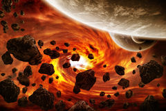 Planet Eart Apocalypse illustration. Made with photoshop cs4 Royalty Free Stock Images