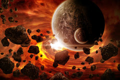 Planet Eart Apocalypse illustration Stock Images