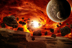 Planet Eart Apocalypse illustration. Made with photoshop cs4 Stock Images