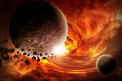 Planet Eart Apocalypse illustration Royalty Free Stock Images