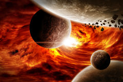 Planet Eart Apocalypse illustration Stock Photography