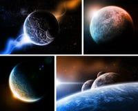 Planet Eart Apocalypsesatz Lizenzfreies Stockfoto