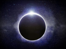 Planet Eart Eclipse illustration Royalty Free Stock Photos