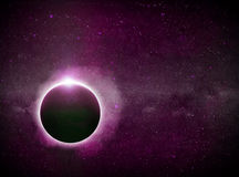 Planet Eart Eclipse illustration Royalty Free Stock Photography